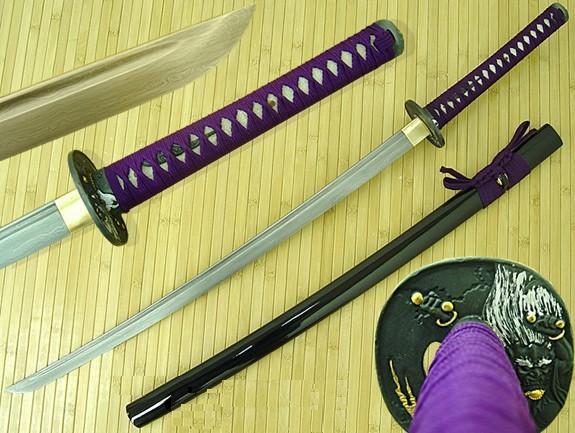 Bushido Raijin Folded Katana (Purple Ito)