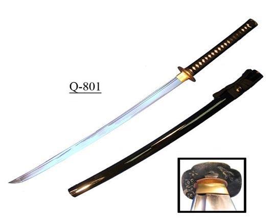 Katana Blade Dimensions Q-801 Katana Damascus Blade