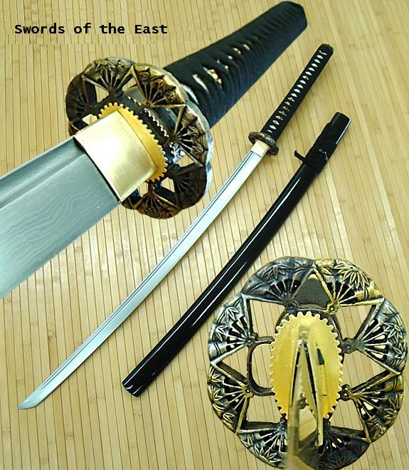 Damascus Samurai Fan Hand Forged Damascus Katana