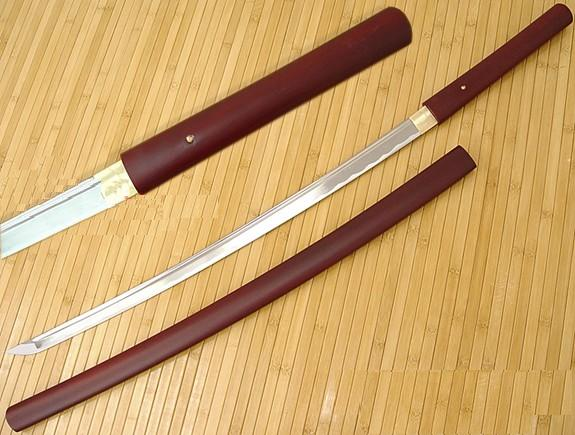 Musashi Japanese Swords Red Shirasaya
