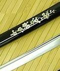 Musashi Japanese Swords Black Sakura Katana