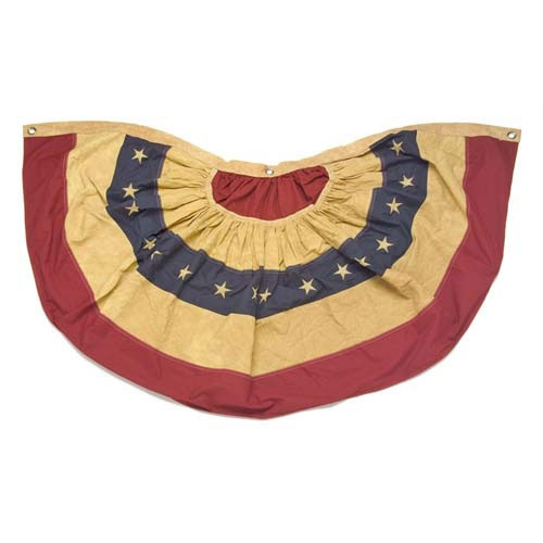 ANTIQUED FLAG BUNTING
