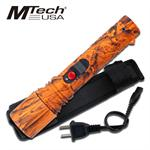 ORANGE CAMO RECHARGEABLE STUNGUN WITH LED LIGHT