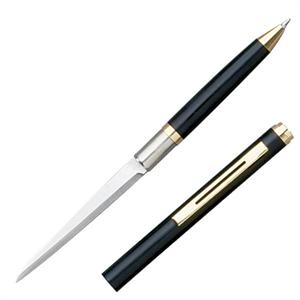 "PEN KNIFE 3"" PLAIN BLADE BLACK INCLUDES LETTER OPENER"