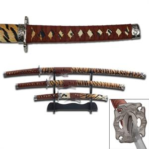 Tiger Samurai Sword Set 3 pc