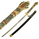Golden Dragon Samurai Sword