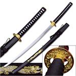 Gold Dragon Samurai Sword