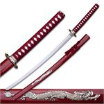 Silver Dragon Sword Red