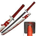 Red Splatter Samurai Katana