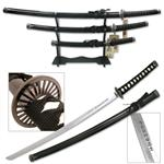 Black Wrapped Samurai Sword Set