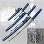 Blue Crane Samurai Sword Set